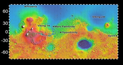 Mars'a İniş Alanları