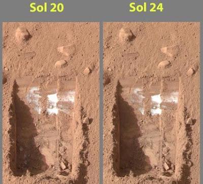Mars'taki Buzun Kanıtı