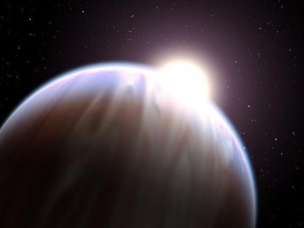 Yukarıda, HD189733b adlı gezegenin temsili bir resmini görmektesiniz.