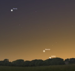 Venüs Merkür Jüpiter