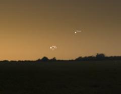 Jüpiter, Mars ve Merkür