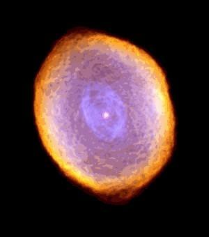 Hubble tarafından IC 418'ün elde edilen görüntüsü.