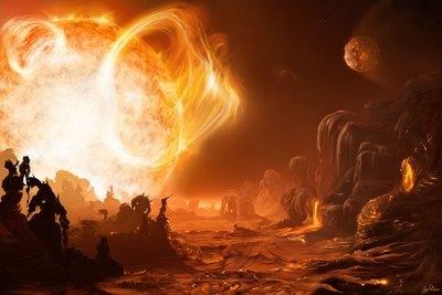 Yıldızına çok yakın bir yörüngede bulunan Güneş sistemi dışı bir gezegenin hayali çizimi.