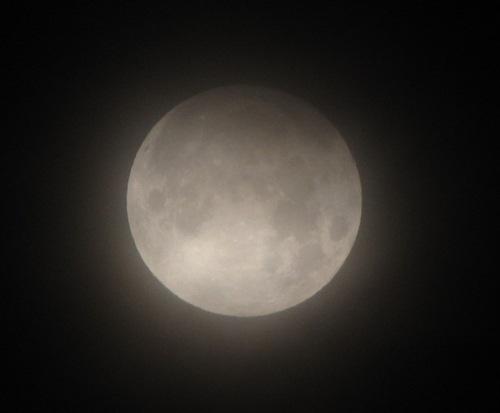 Callifornia'dan Christopher Calubaquib'in elde ettiği yarı gölgeli Ay tutulması fotoğrafı